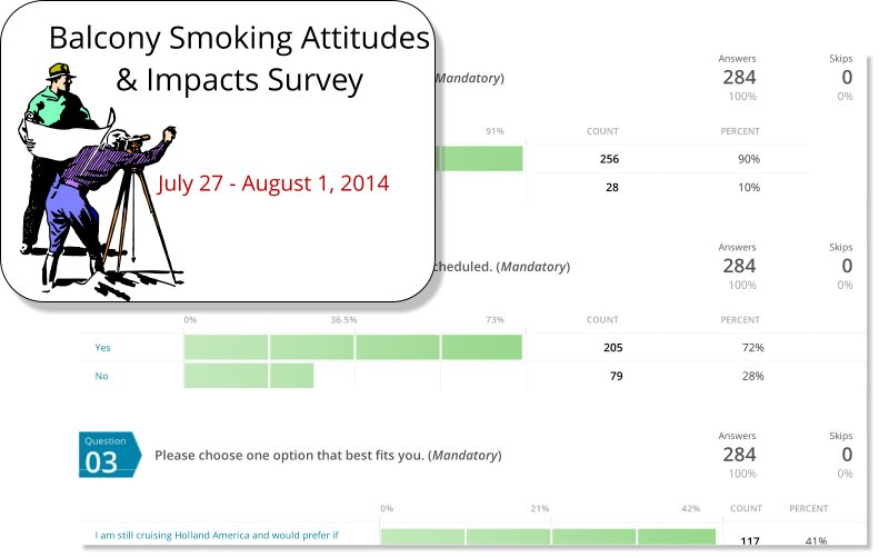 Holland America Balcony Smoking Policy Survey