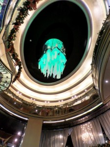 New York Glass & Light Sculpture - Aqua