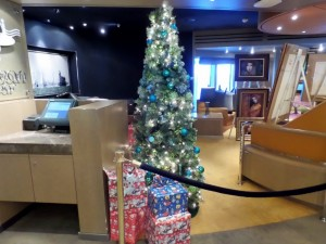 Ocean Bar Tree (None of the presents has our name on them,)